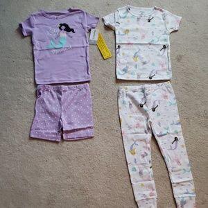 🧜♀️Carter's Toddler Girl 3T 4PC PJ Set NWT